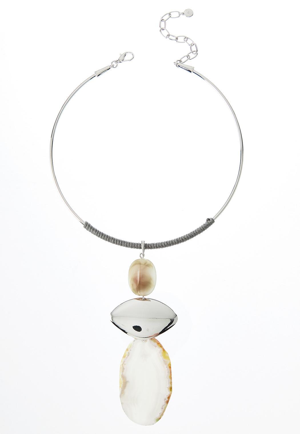 Tiered Semi Precious Pendant Necklace (Item #44459664)