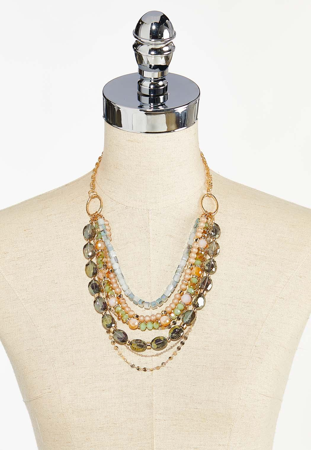 Gorgeous Mixed Bead Swag Necklace (Item #44459996)