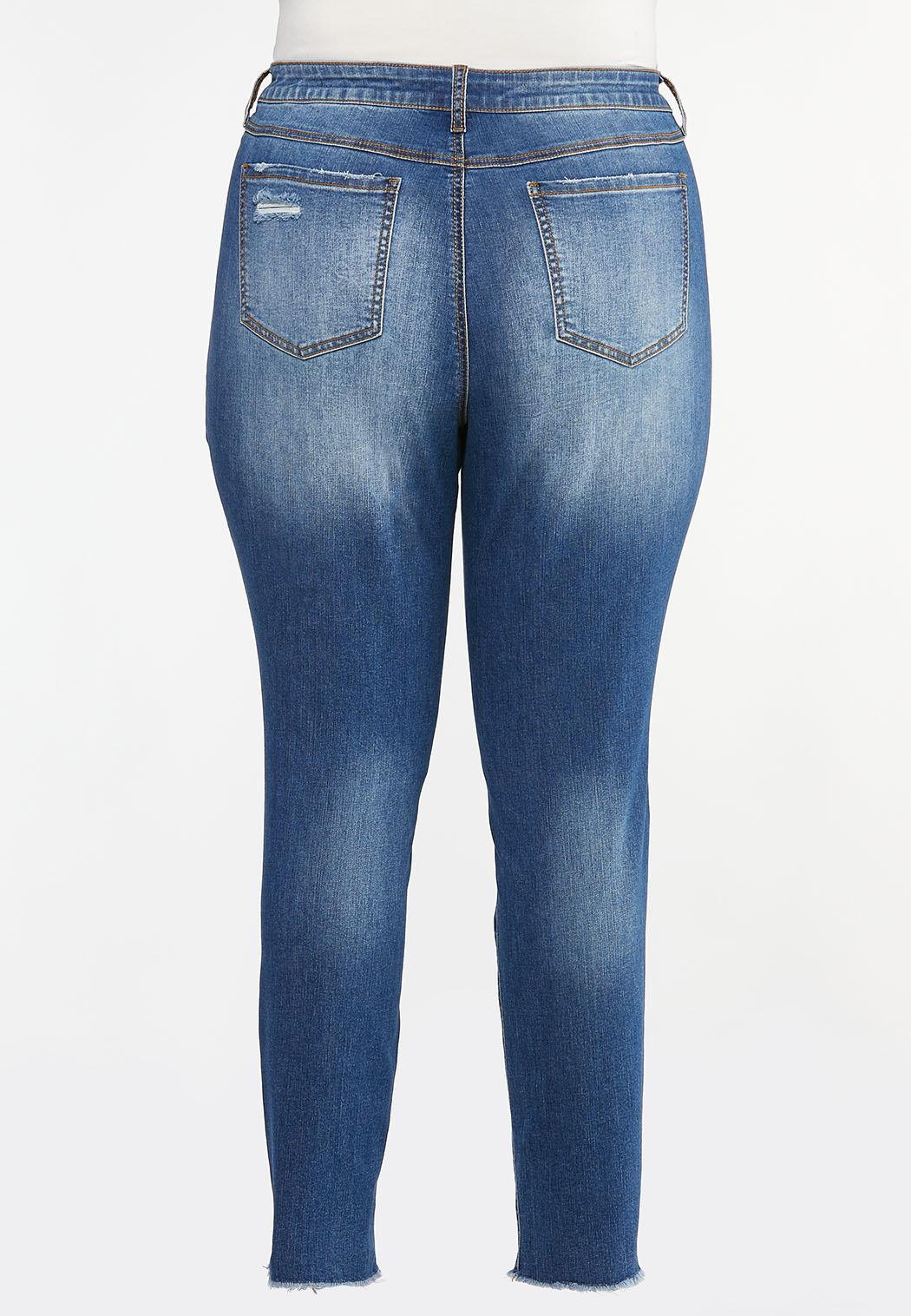 Plus Size Distressed Jeggings (Item #44460425)