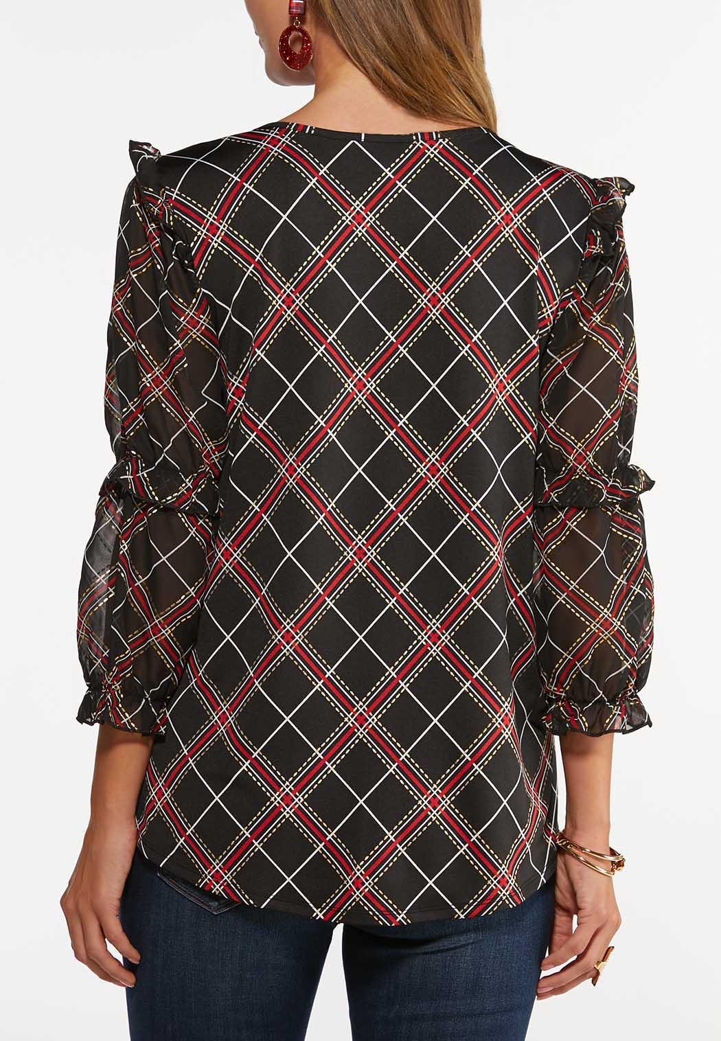 Sheer Ruffled Sleeve Top (Item #44461435)