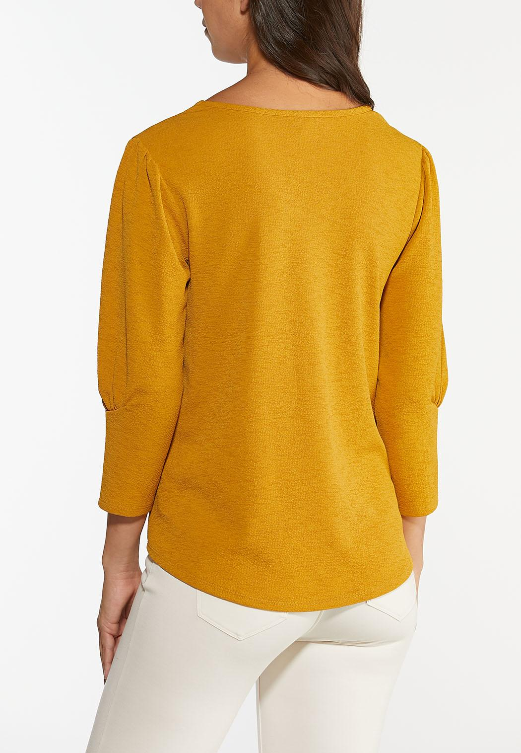 Gold Puff Sleeve Top (Item #44461525)