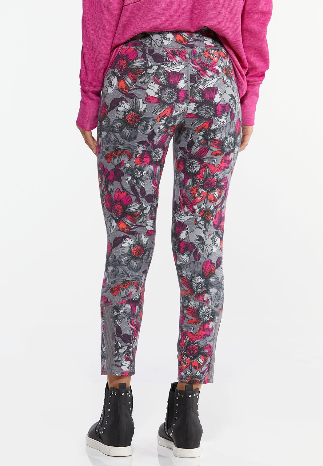 Fuchsia Sketch Floral Leggings (Item #44462093)