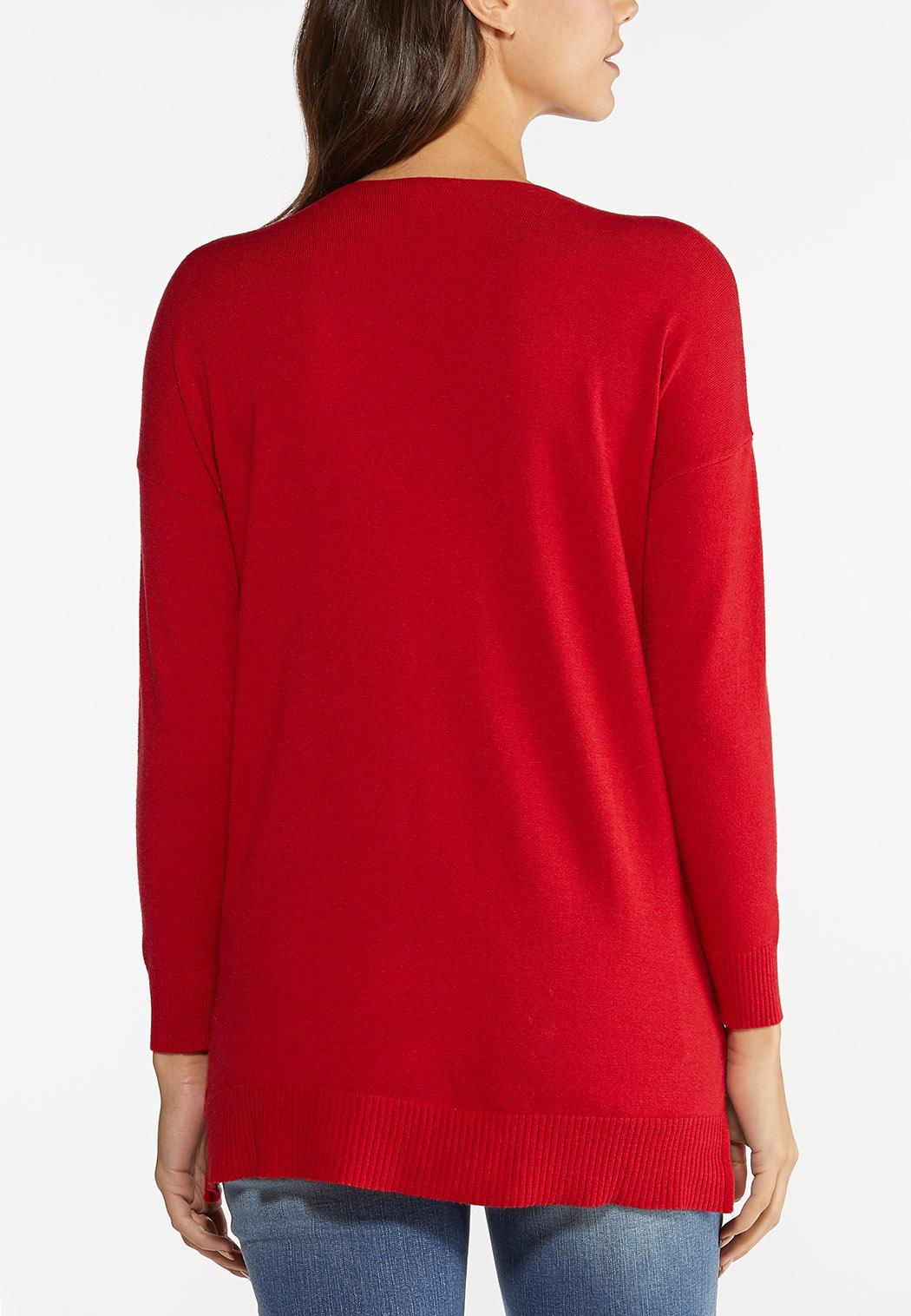 Plus Size Solid Pullover Sweater (Item #44462388)