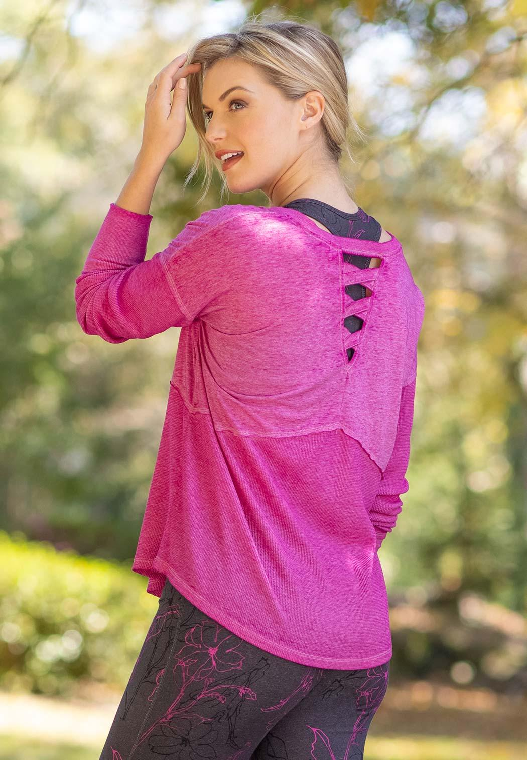 Plus Size Live Well Active Cross Back Top (Item #44462744)