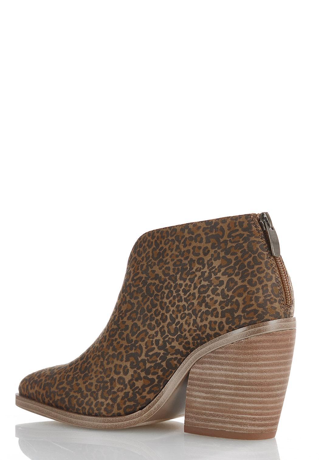 Leopard Dip Front Booties (Item #44463191)