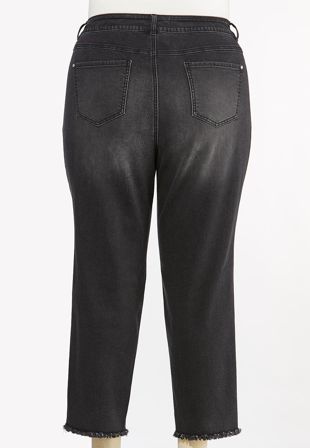 Plus Size Black Skinny Ankle Jeans (Item #44464078)