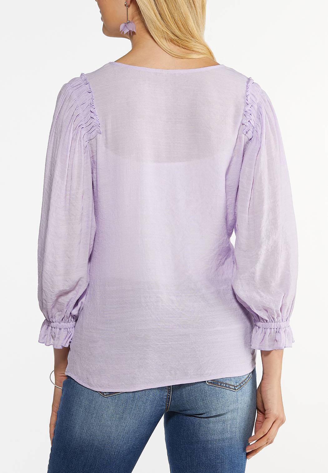Lavender Ruffled Sleeve Top (Item #44465229)