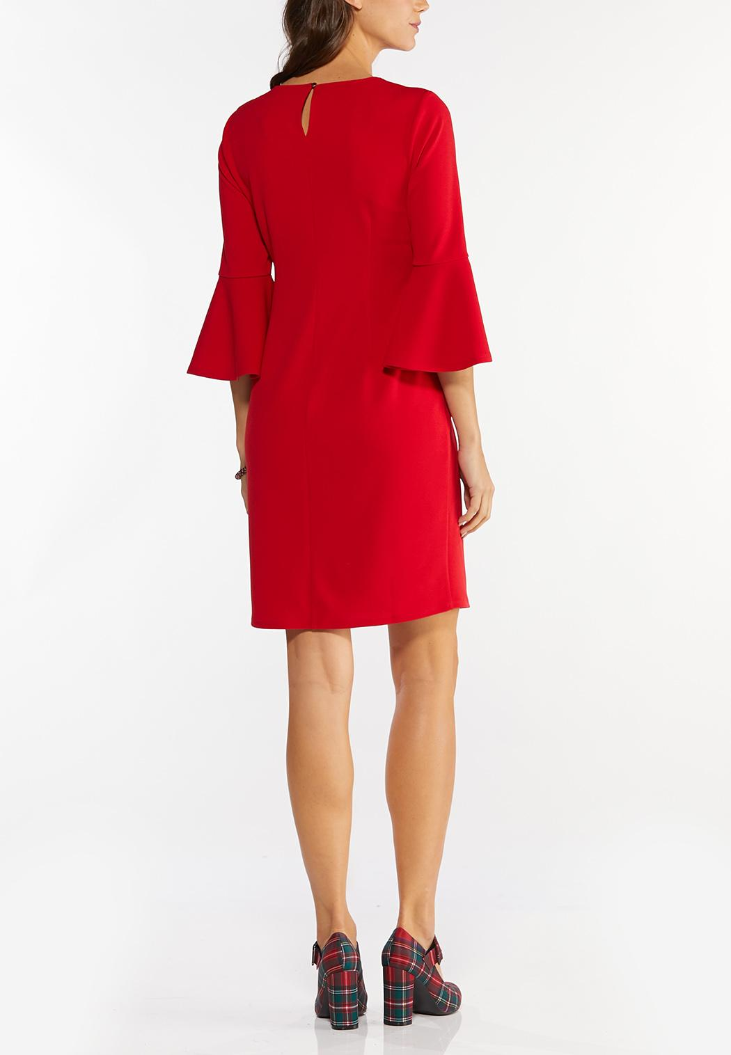Plus Size Red Scuba Sheath Dress (Item #44465855)