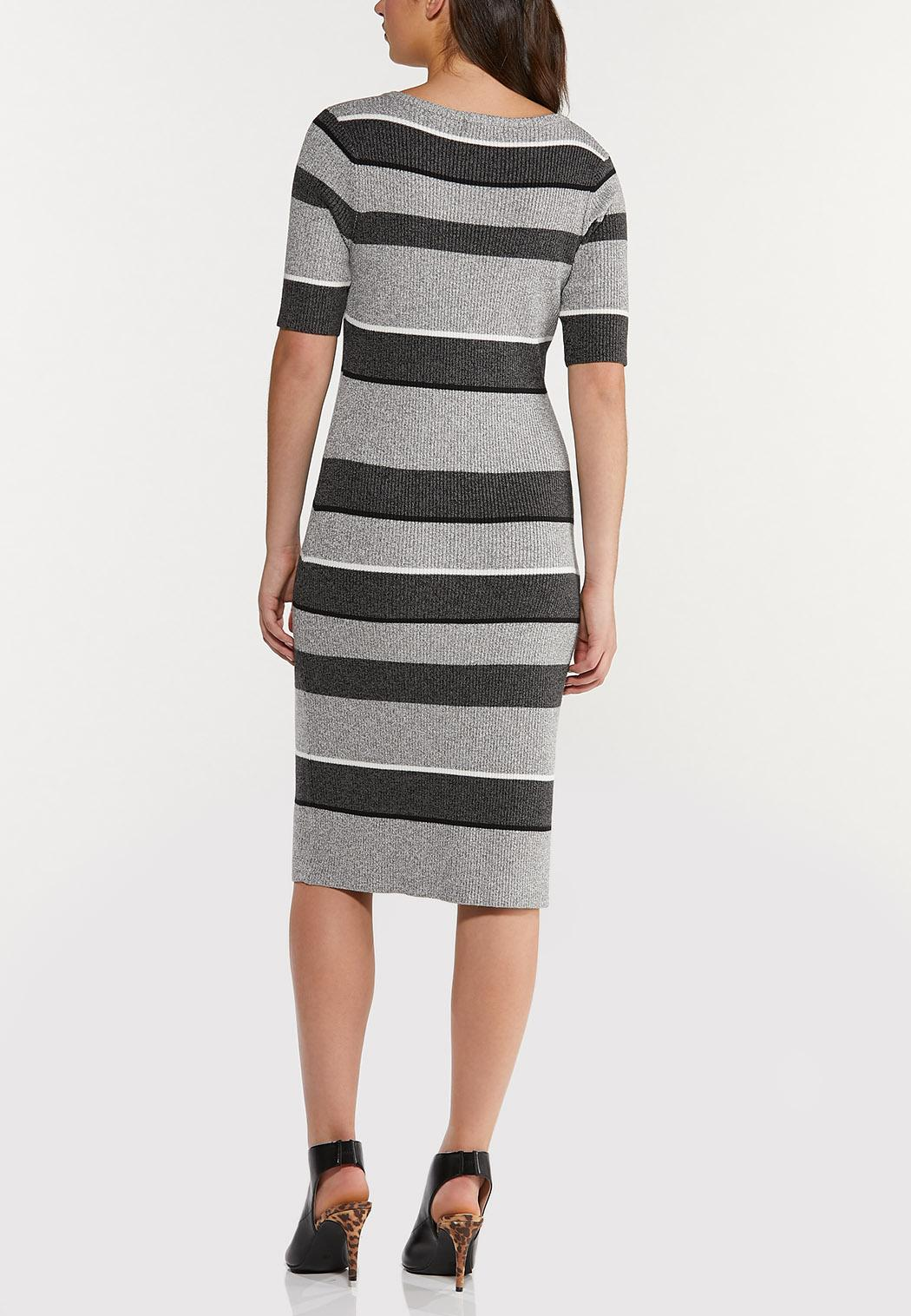 Striped Midi Sweater Dress (Item #44465892)