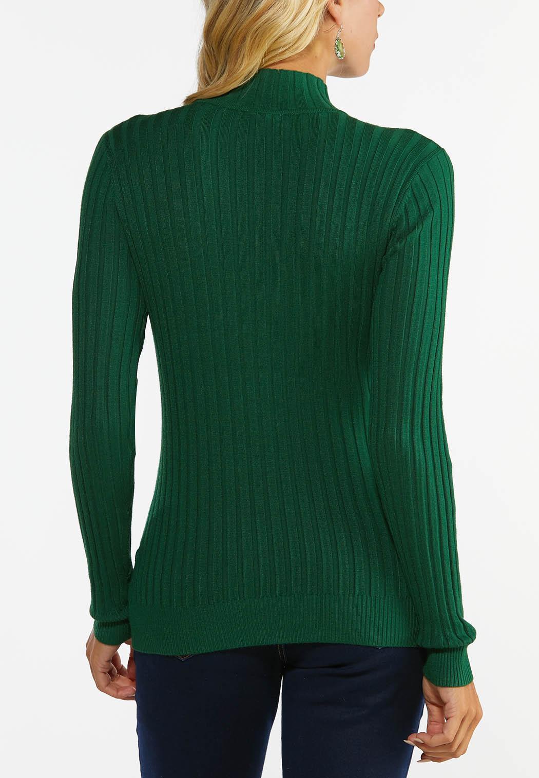Ribbed Mock Neck Sweater (Item #44466022)