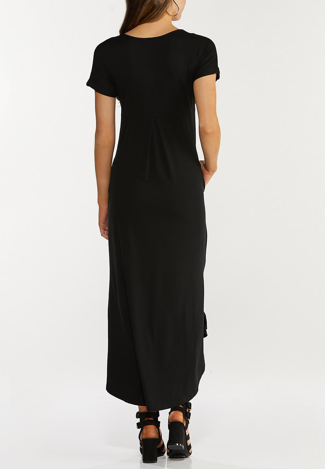 Plus Size Knotted Hem Maxi Dress (Item #44466029)