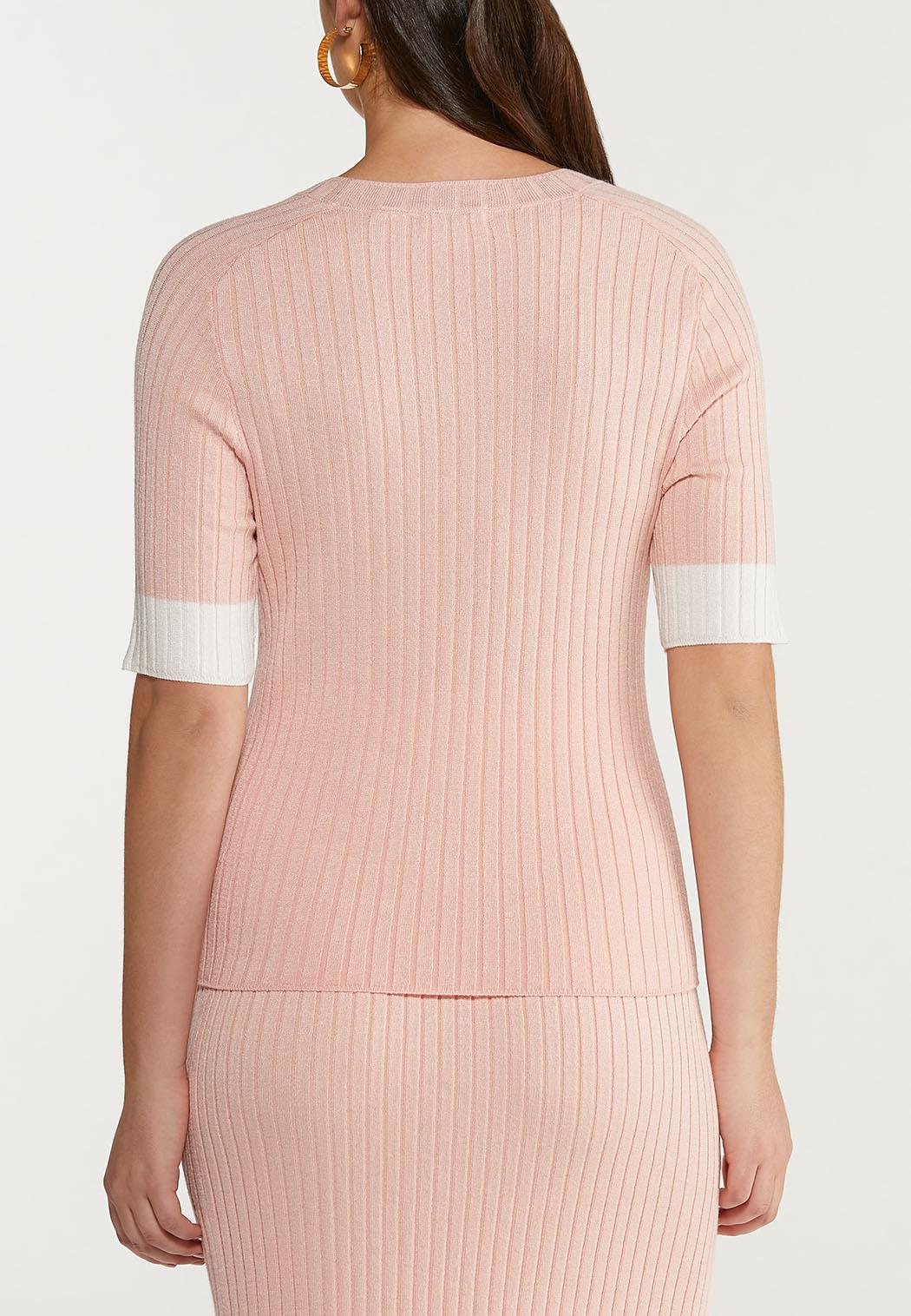 Contrast Ribbed Sweater (Item #44466123)