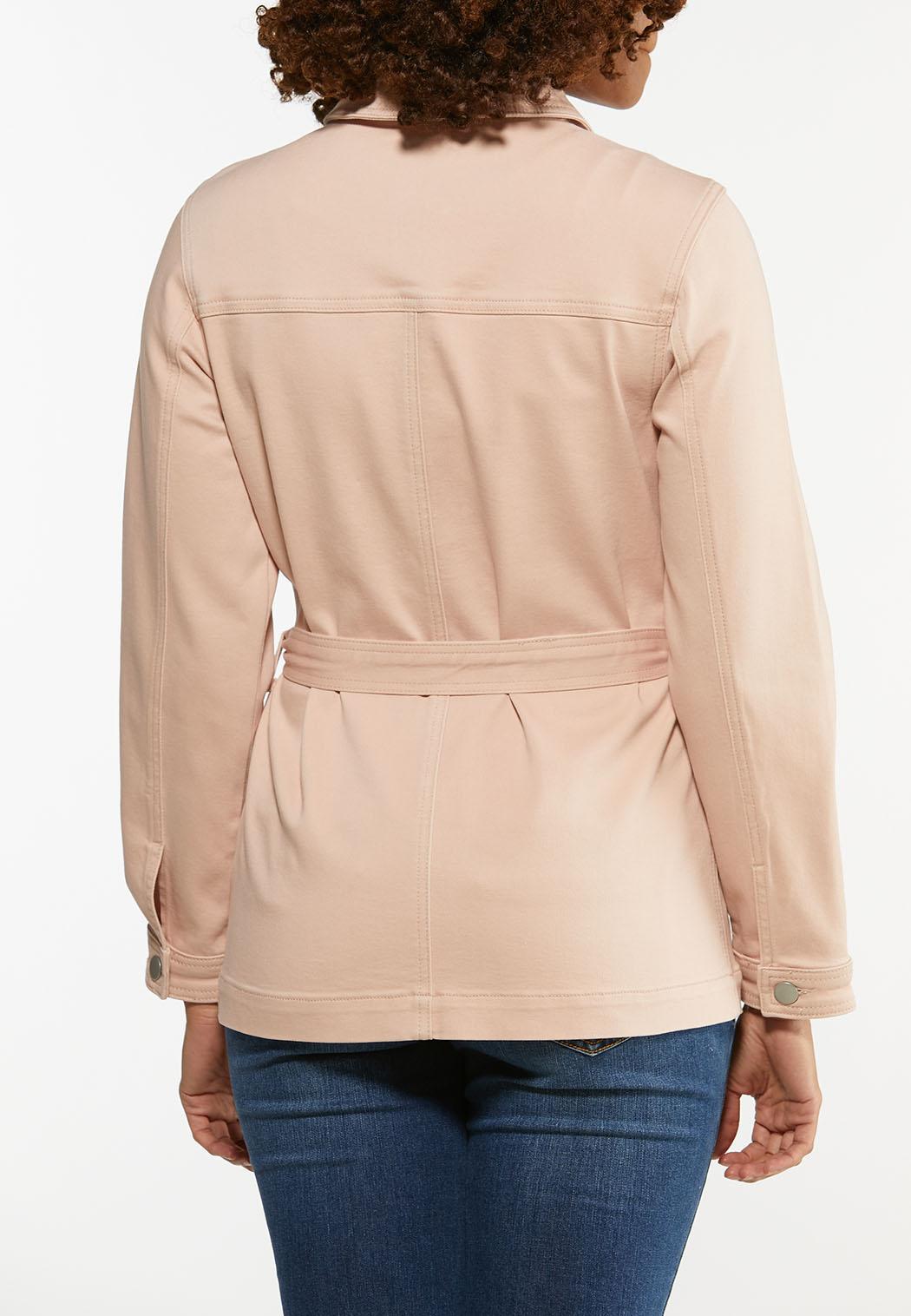 Plus Size Rose Denim Jacket (Item #44466517)