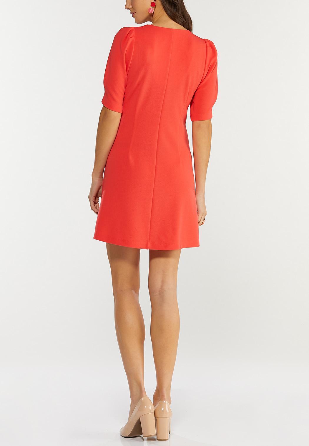 Plus Size Spice Coral Swing Dress (Item #44467322)