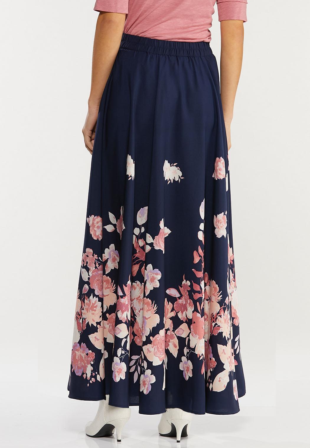 Plus Size Navy Floral Maxi Dress (Item #44467910)