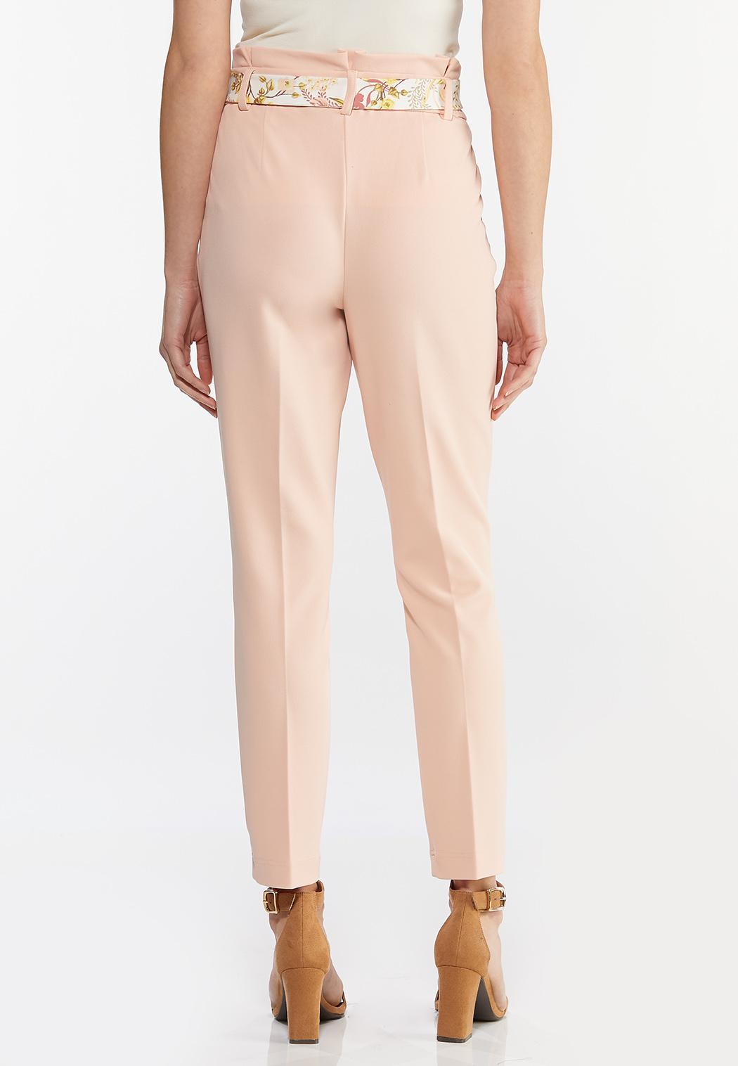 Floral Belted Slim Pants (Item #44468556)