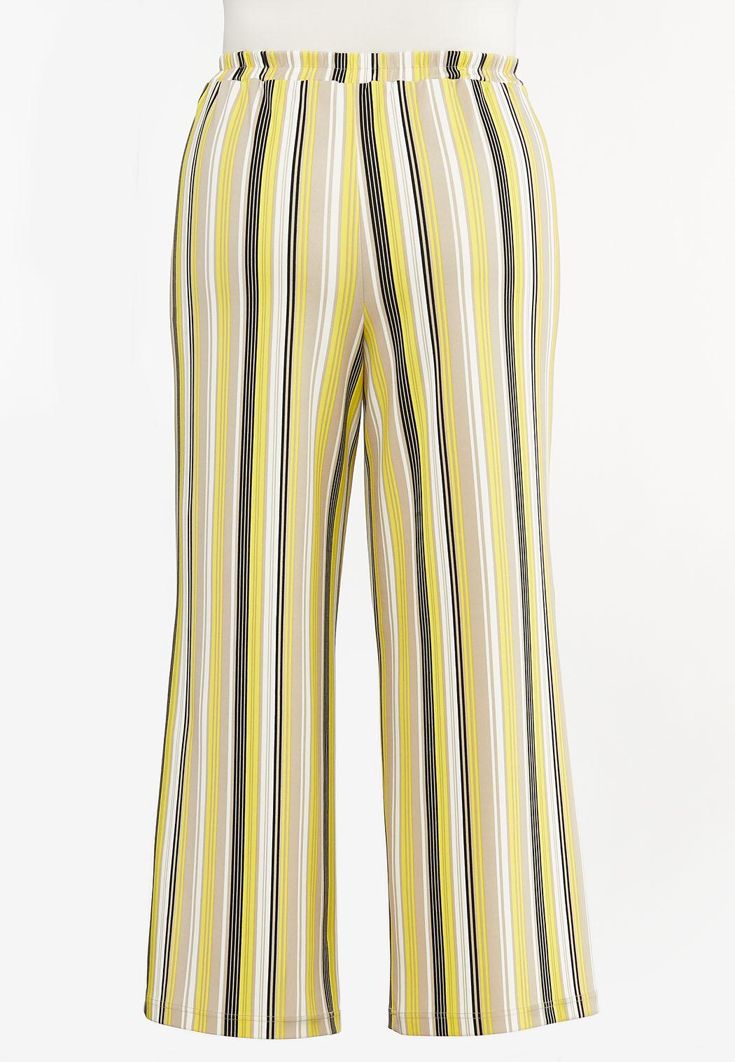 Plus Size Striped Palazzo Pants (Item #44469009)