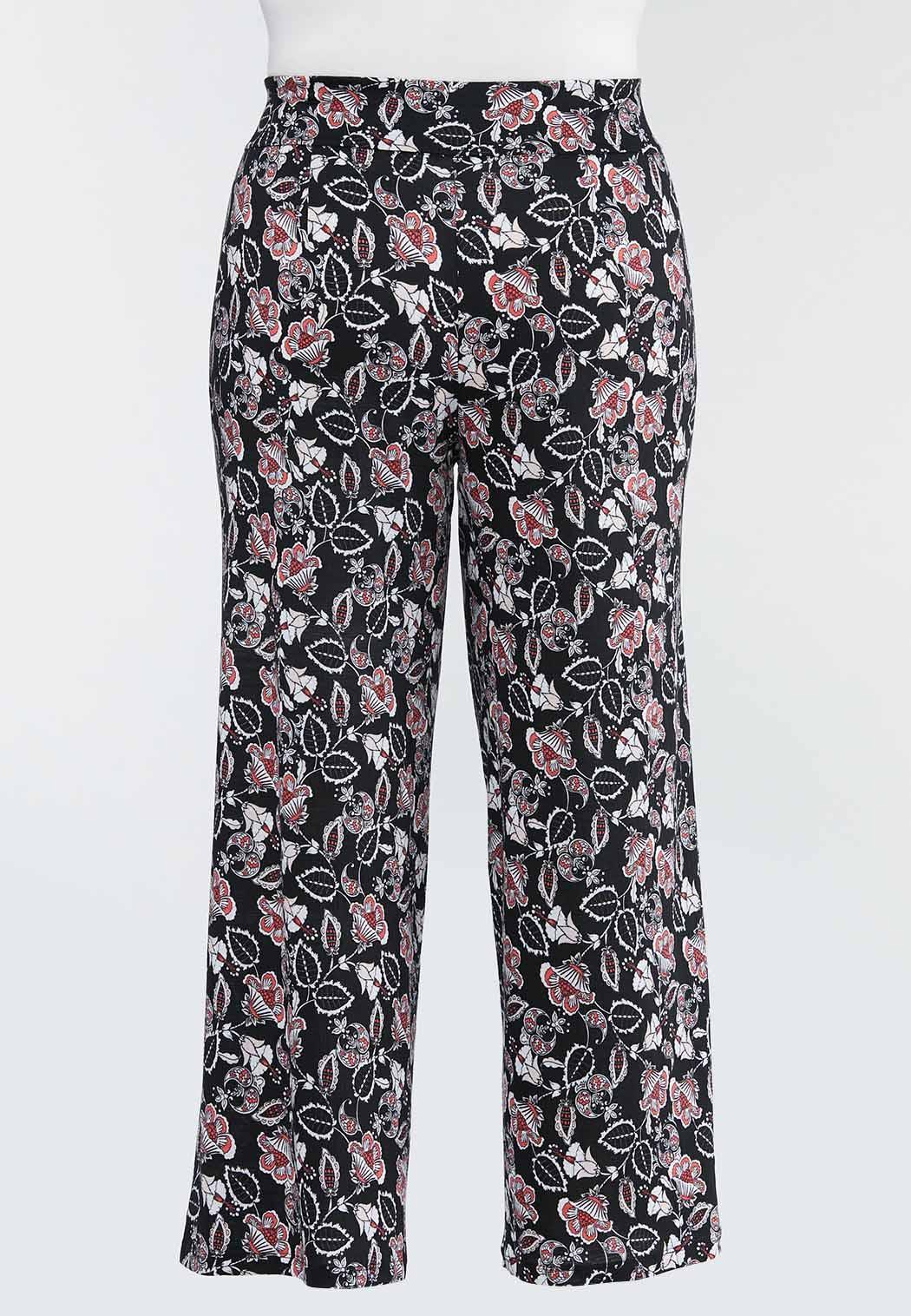 Plus Petite Fun Floral Wide Leg Pants (Item #44469086)