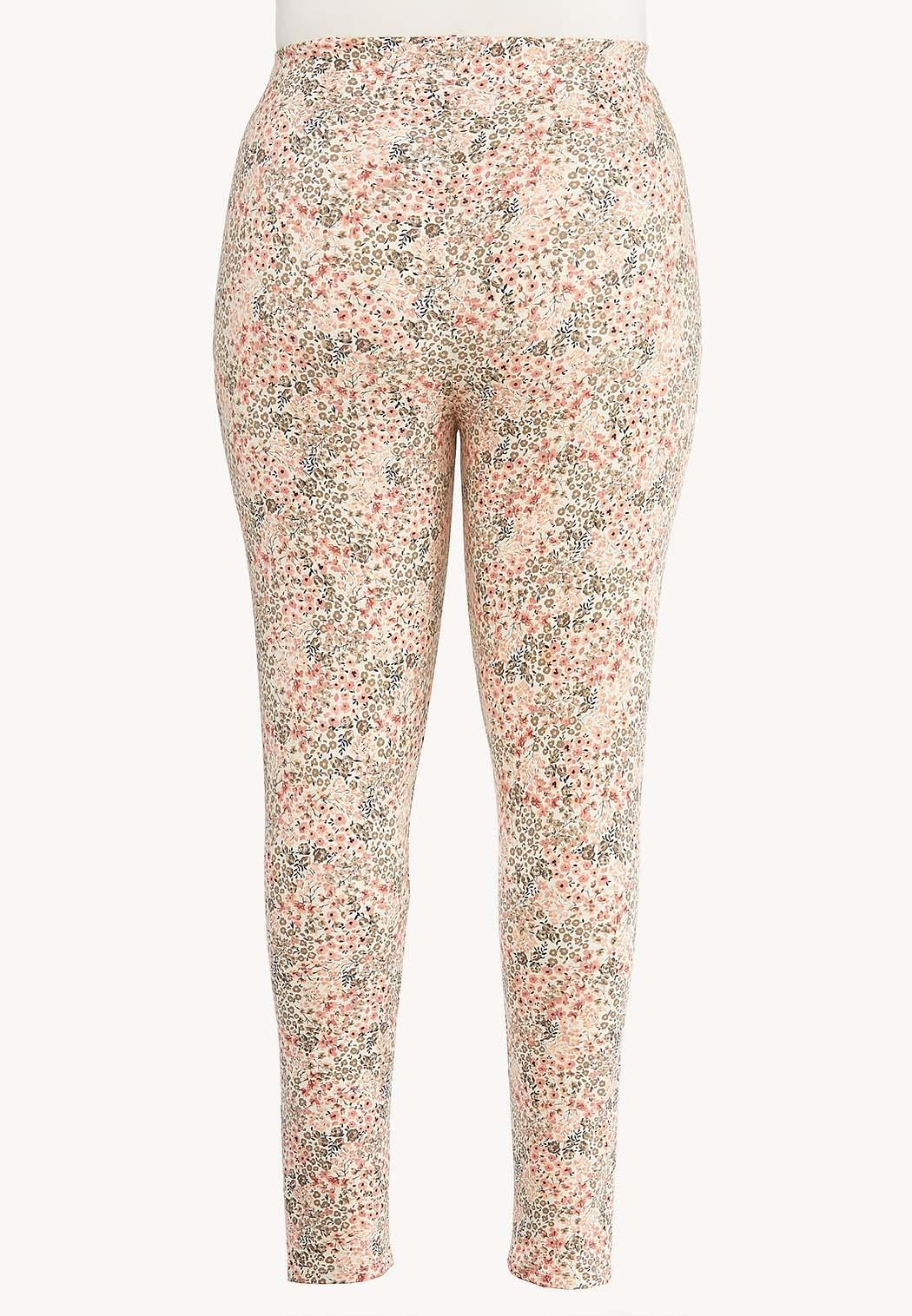 Plus Size Floral Leggings (Item #44469182)