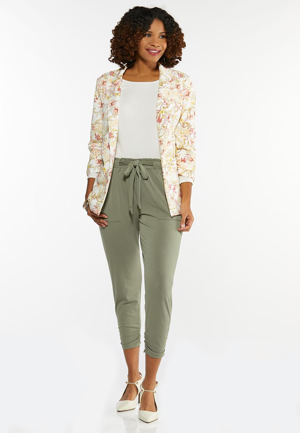 Plus Size Spring Floral Blazer (Item #44469234)