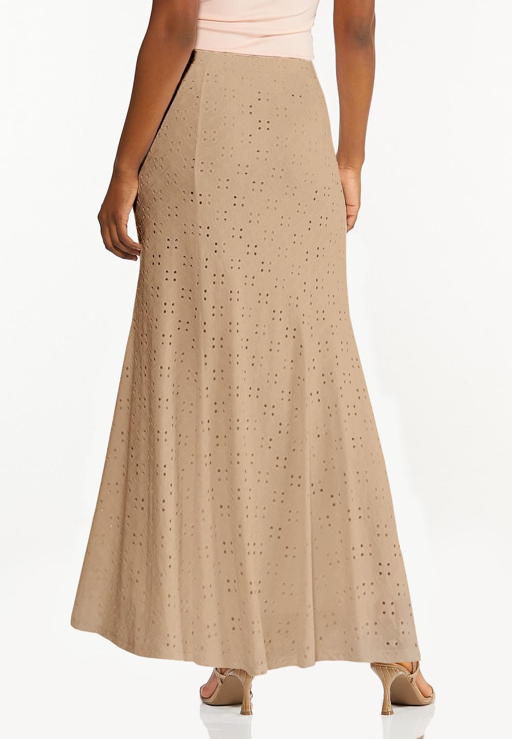 Plus Size Eyelet Mermaid Skirt (Item #44469438)