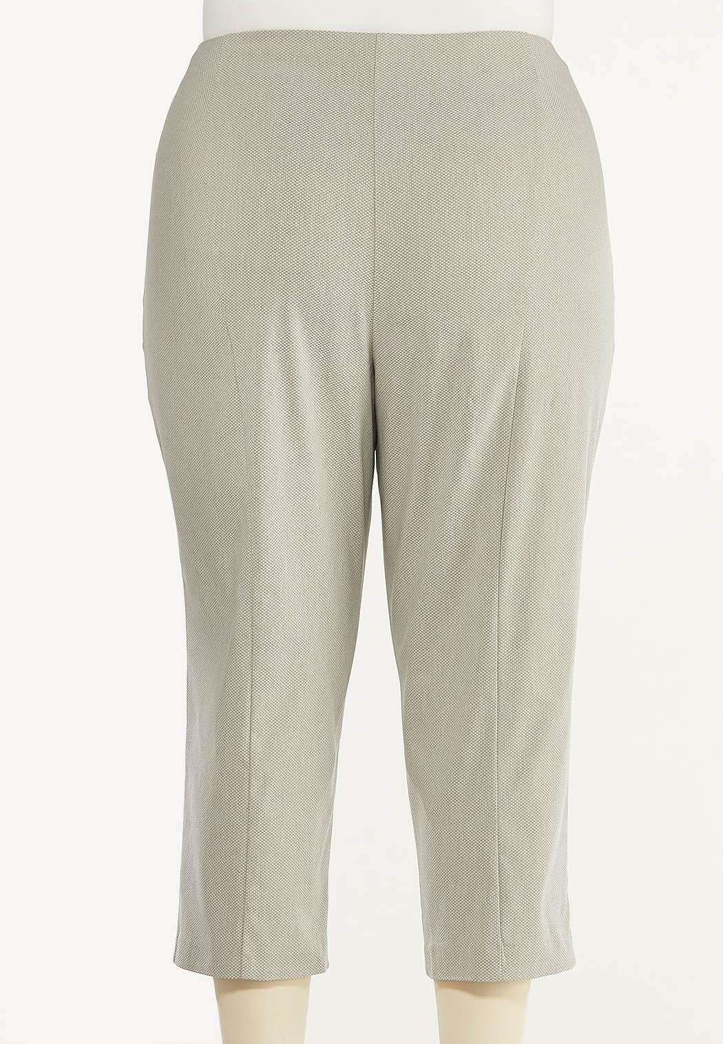 Plus Size Cropped Bengaline Pants (Item #44469679)