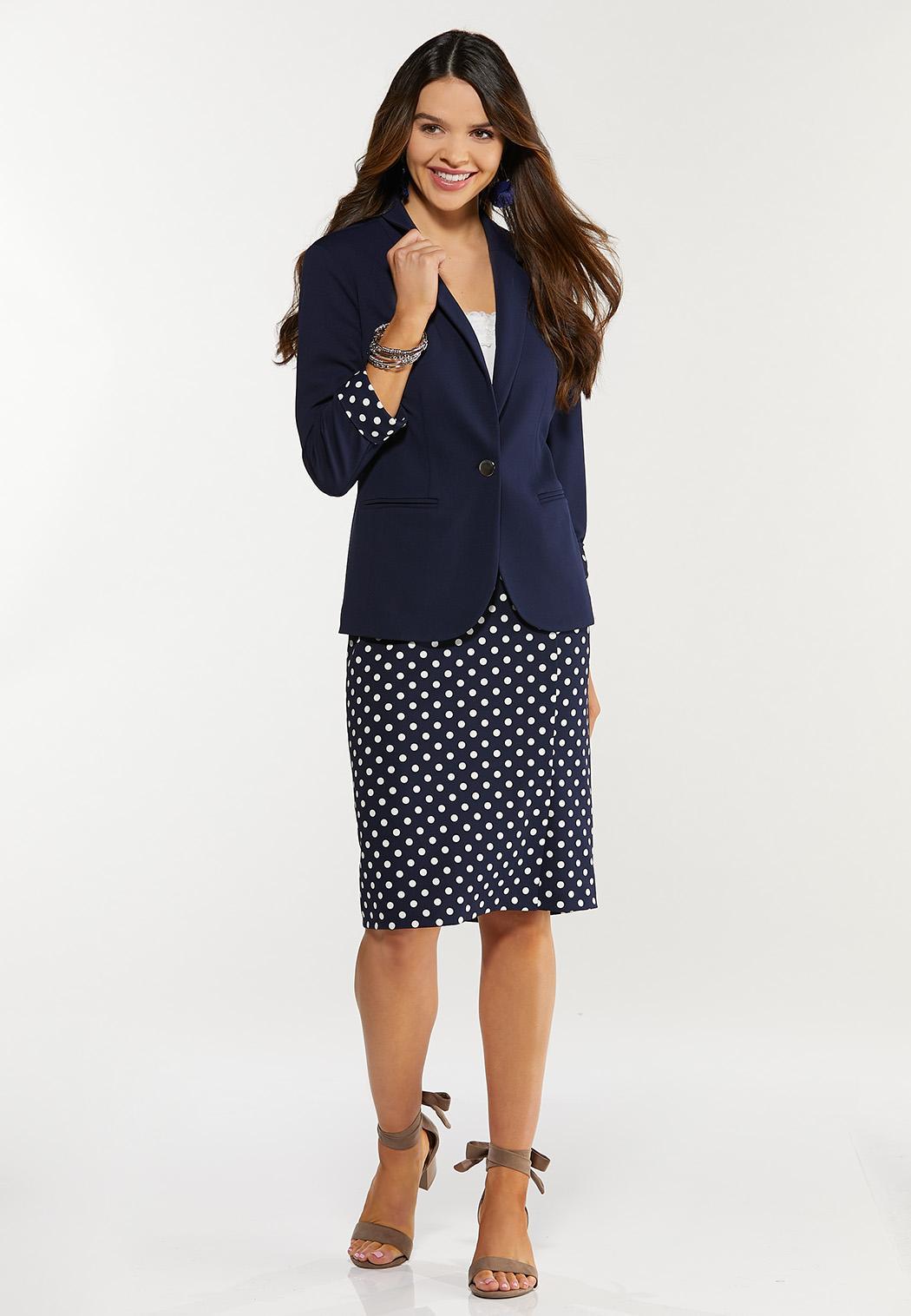 Plus Size Polka Dot Pop Blazer (Item #44469777)