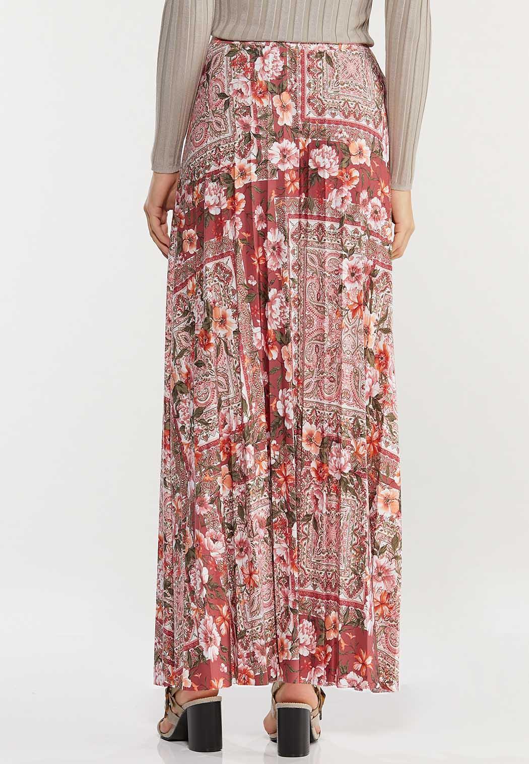 Plus Size Vintage Floral Maxi Skirt (Item #44469843)