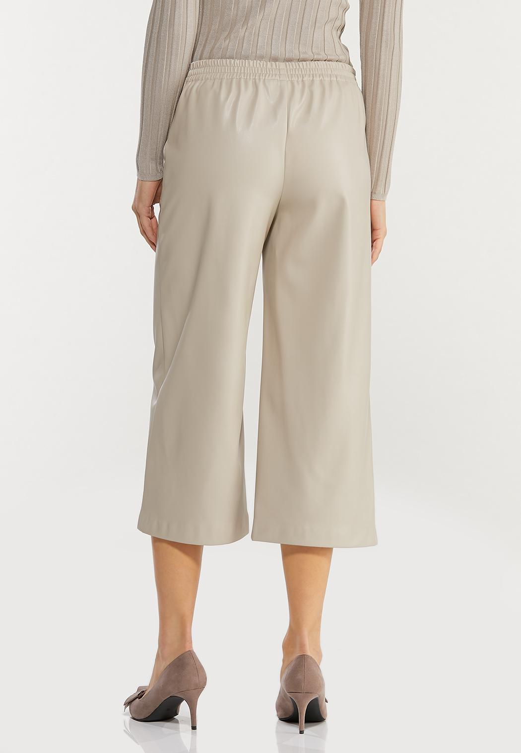 Cropped Faux Leather Pants (Item #44469896)