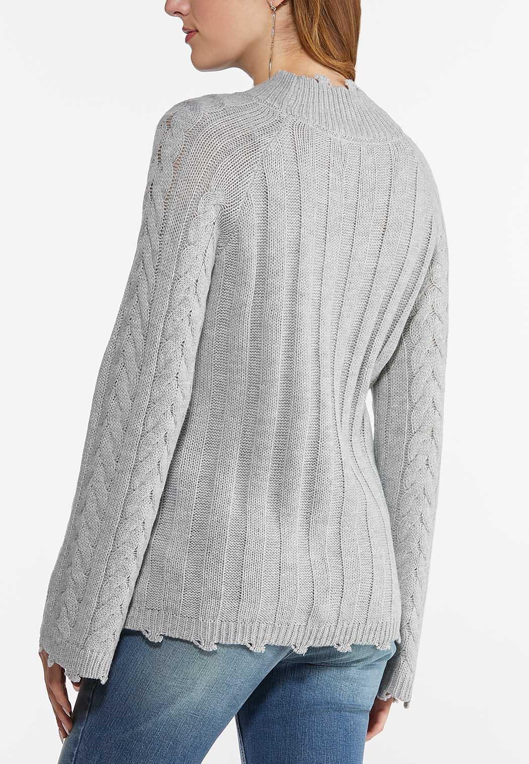 Distressed Trim Sweater (Item #44469900)