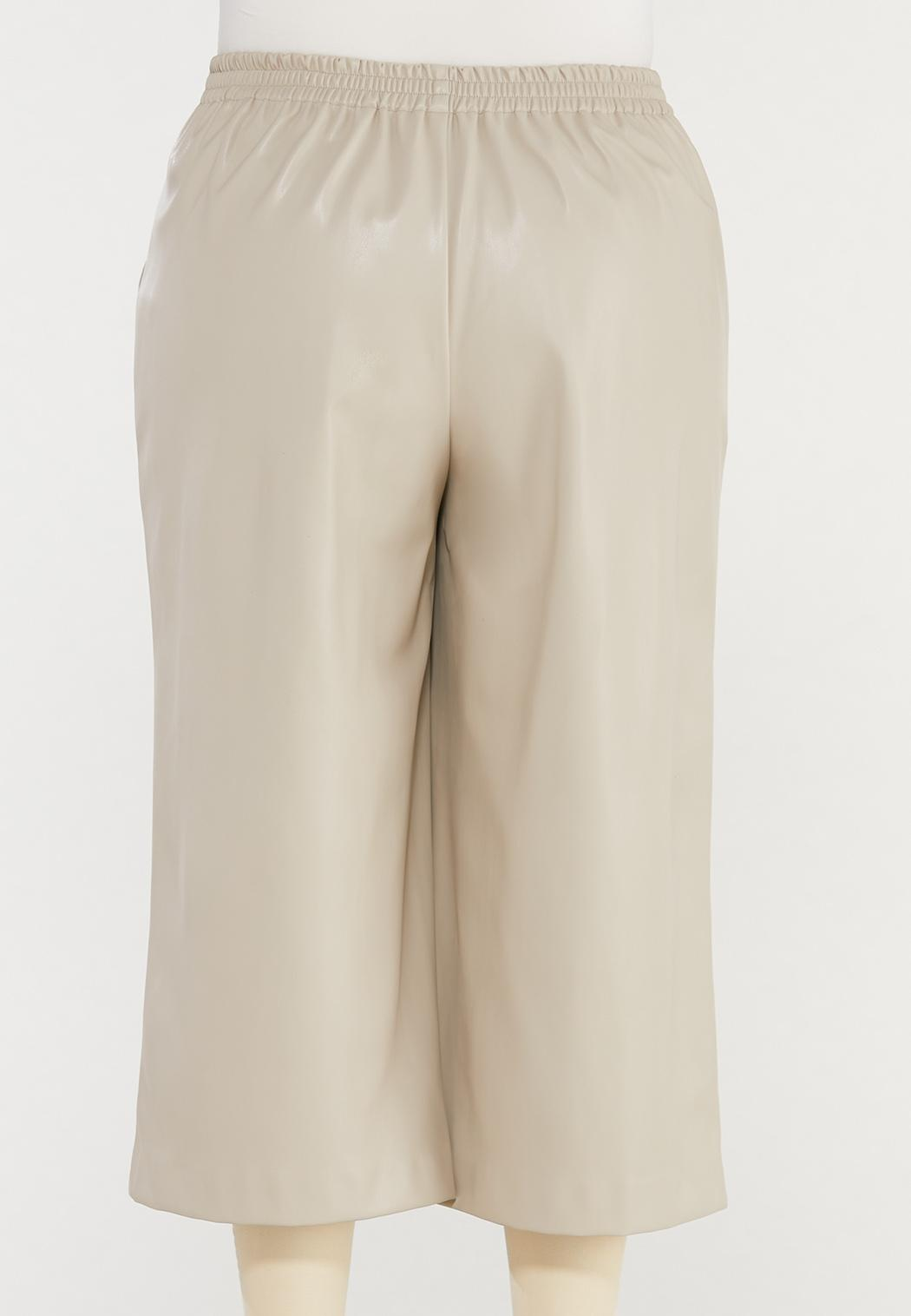 Plus Size Cropped Faux Leather Pants (Item #44469920)