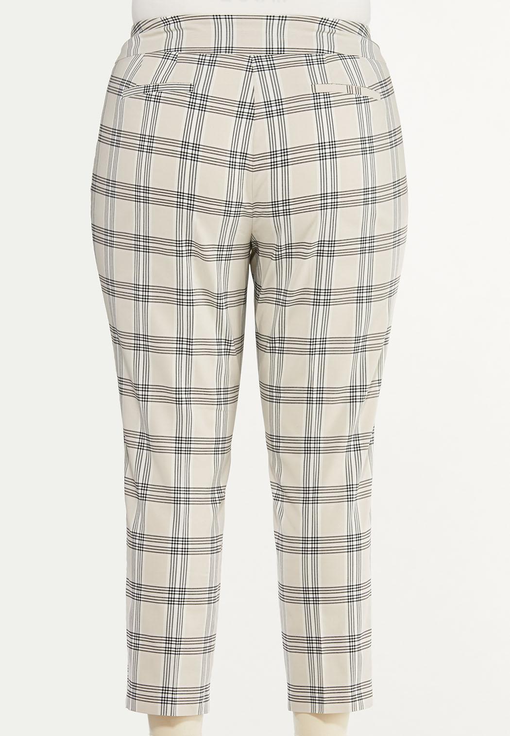 Plus Size Shell Plaid Bengaline Pants (Item #44470533)