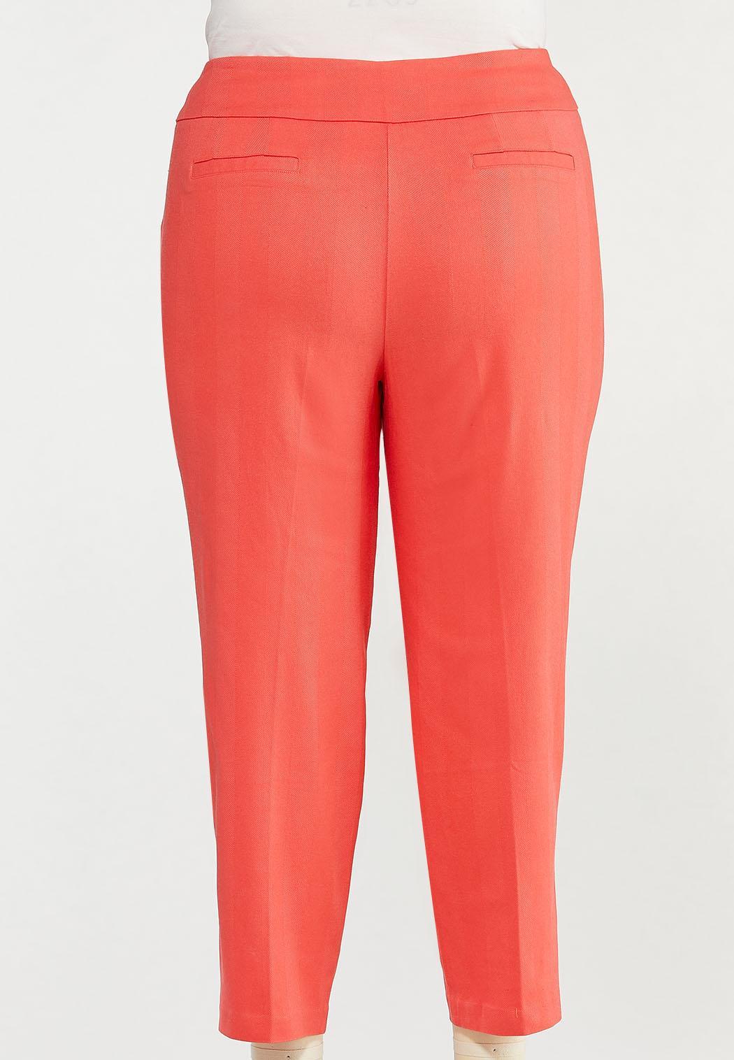 Plus Size Spice Coral Bengaline Pants (Item #44470554)