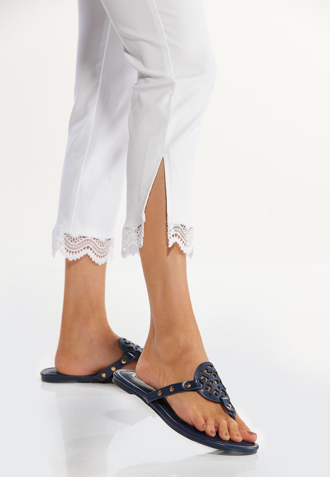 Cropped Crochet Bengaline Pants (Item #44470621)