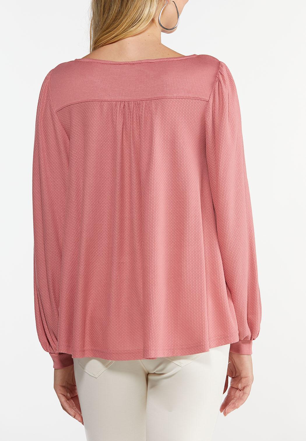 Rose Balloon Sleeve Top (Item #44472238)