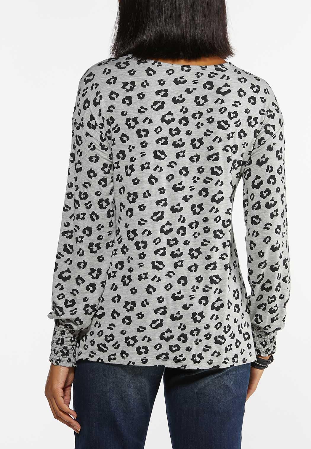 Plus Size Twisted Leopard Top (Item #44472646)