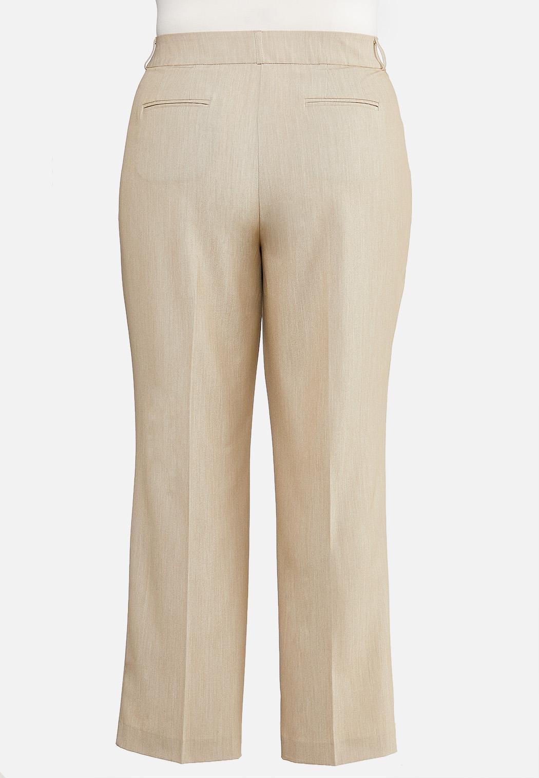 Plus Size Tan Trouser Pants (Item #44474040)