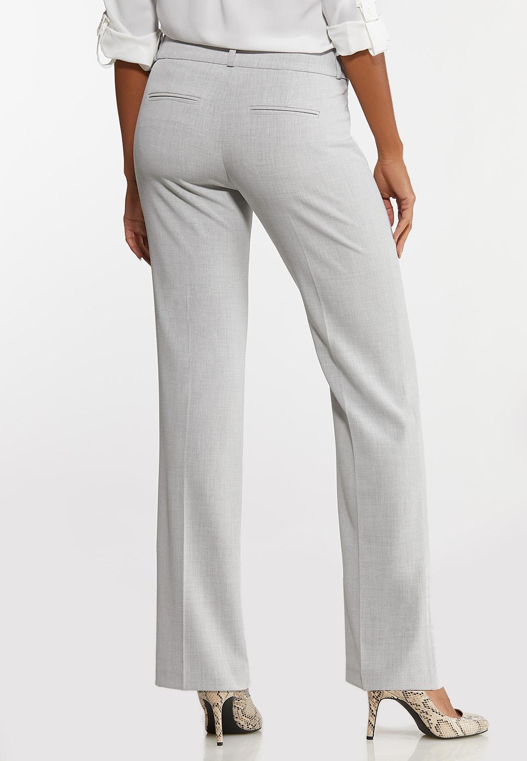 Petite Gray Trouser Pants (Item #44474569)