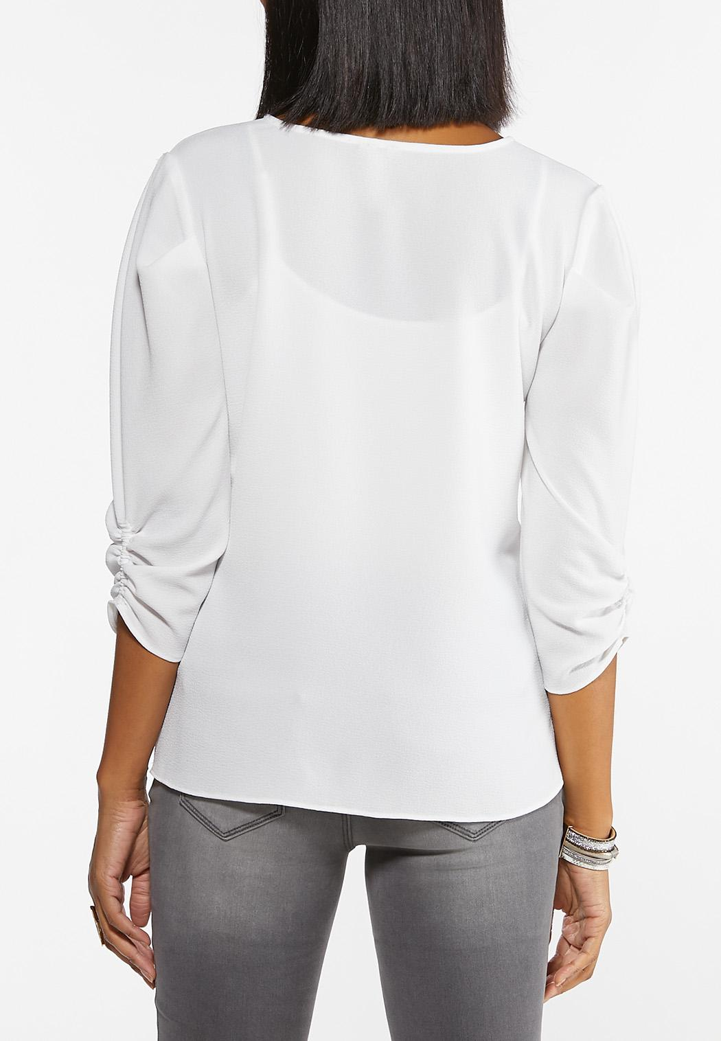 White Puff Sleeve Top (Item #44475101)