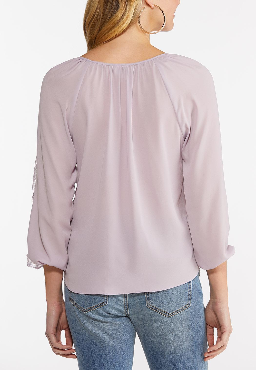 Lavender Ruffled Sleeve Top (Item #44475139)