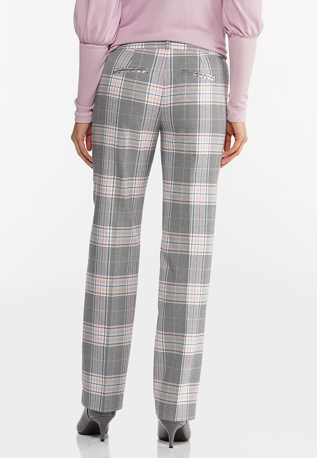 Petite Lavender Plaid Trouser Pants (Item #44475476)