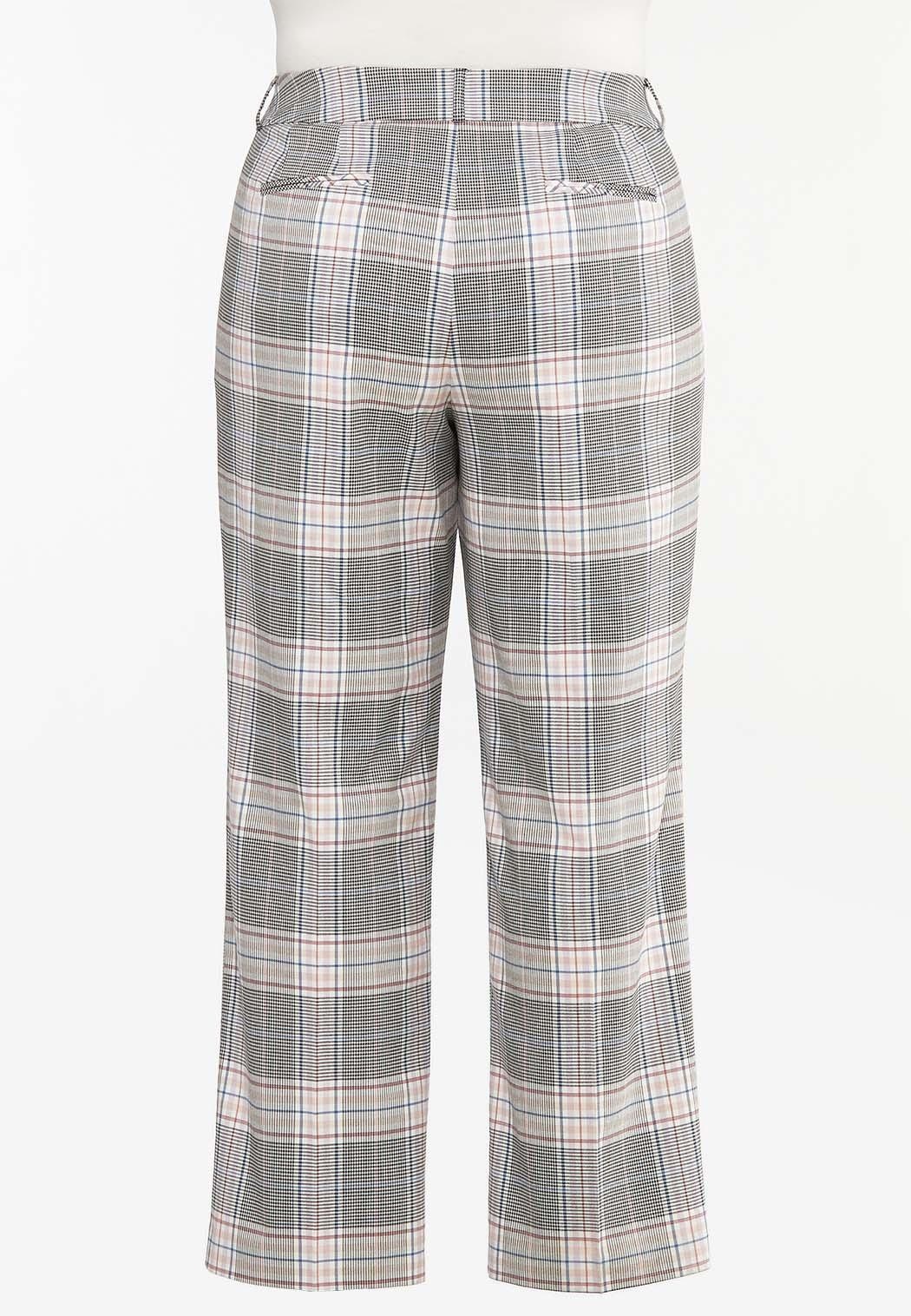 Plus Petite Lavender Plaid Trouser Pants (Item #44475654)