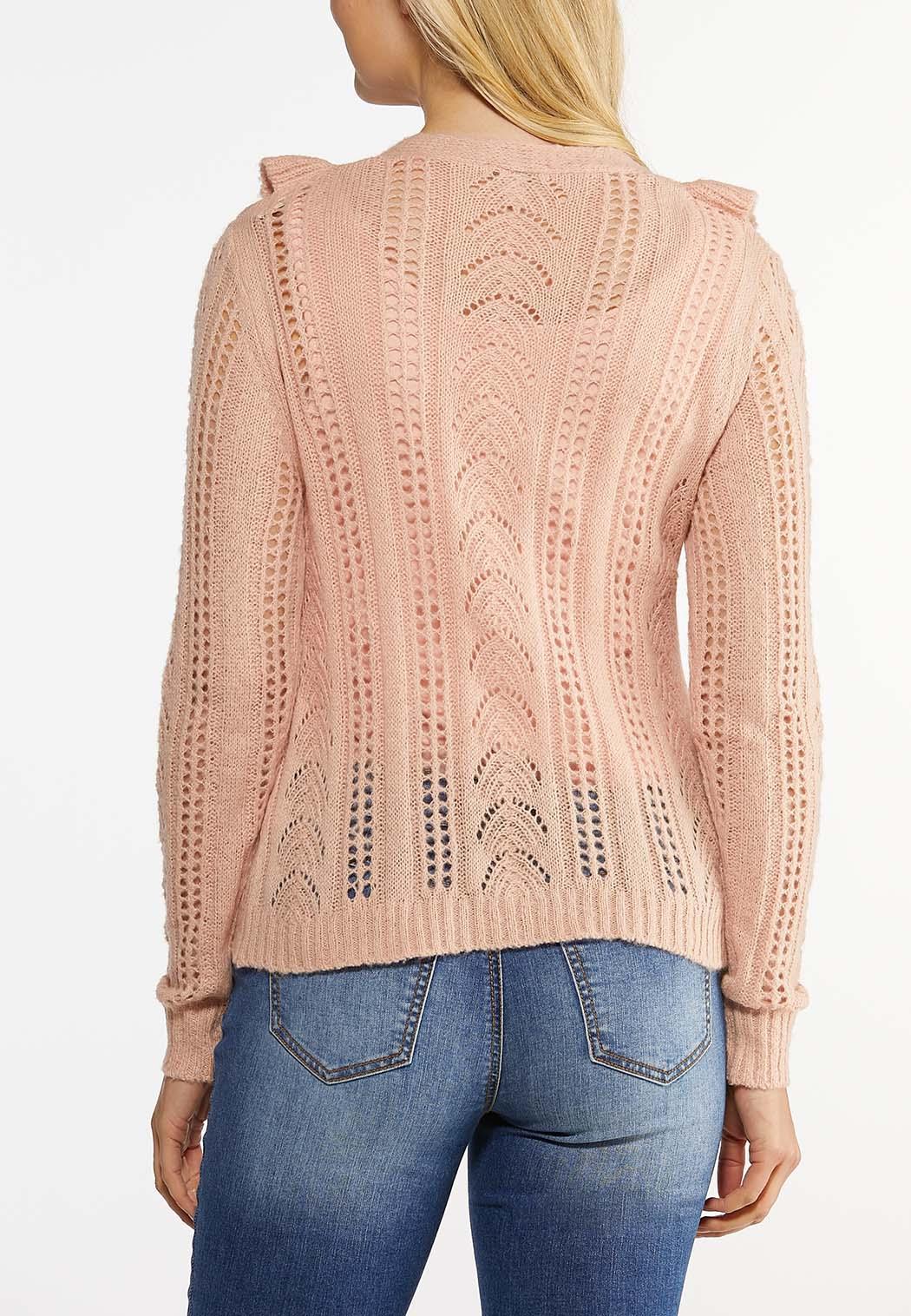Ruffled Stitch Cardigan Sweater (Item #44475689)