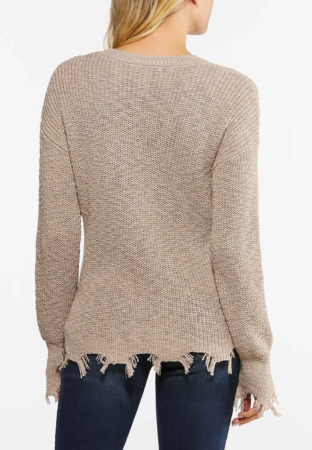 Distressed Pullover Sweater (Item #44475868)