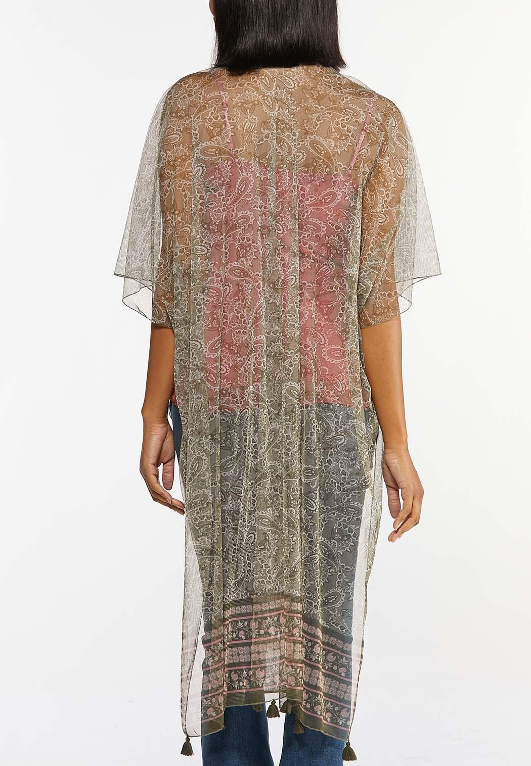 Paisley Mesh Kimono (Item #44476052)