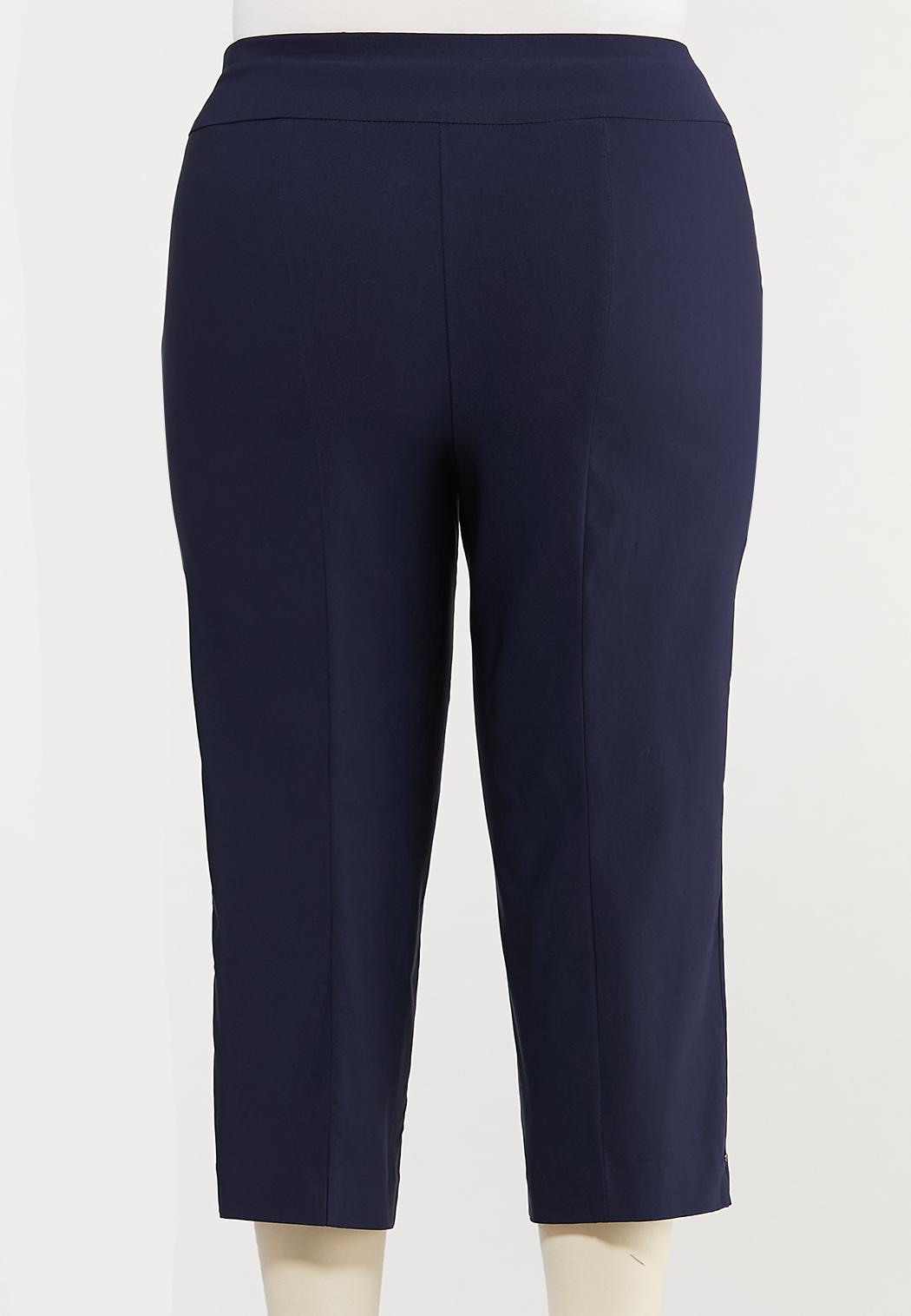 Plus Size Cropped Bengaline Pants (Item #44476378)