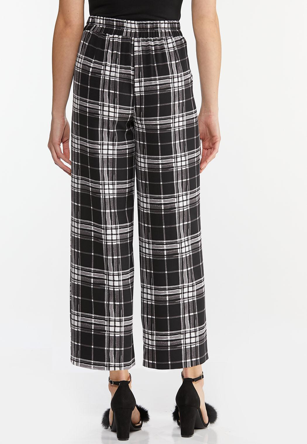 Cropped Plaid Pants (Item #44476535)