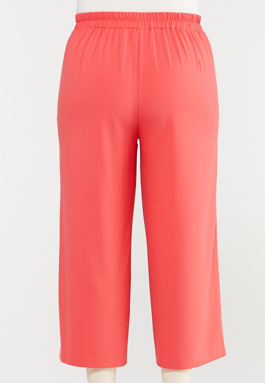 Plus Size Cropped Spice Wide Leg Pants (Item #44476602)