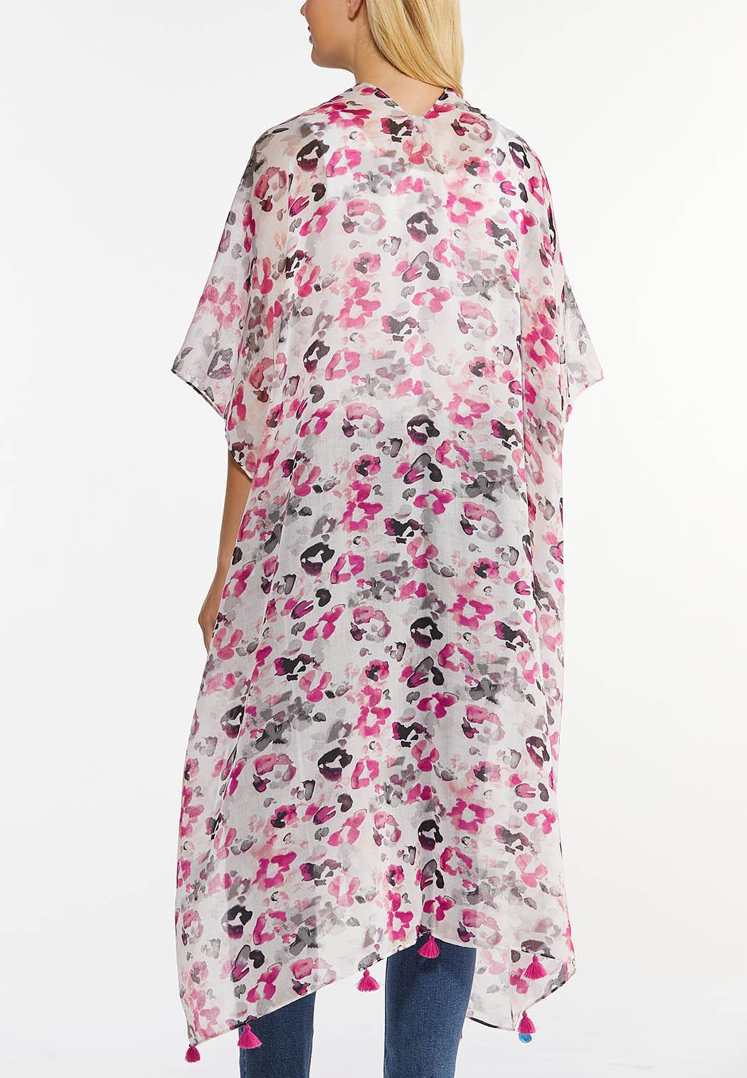 Fierce Fuchsia Tassel Kimono (Item #44476660)