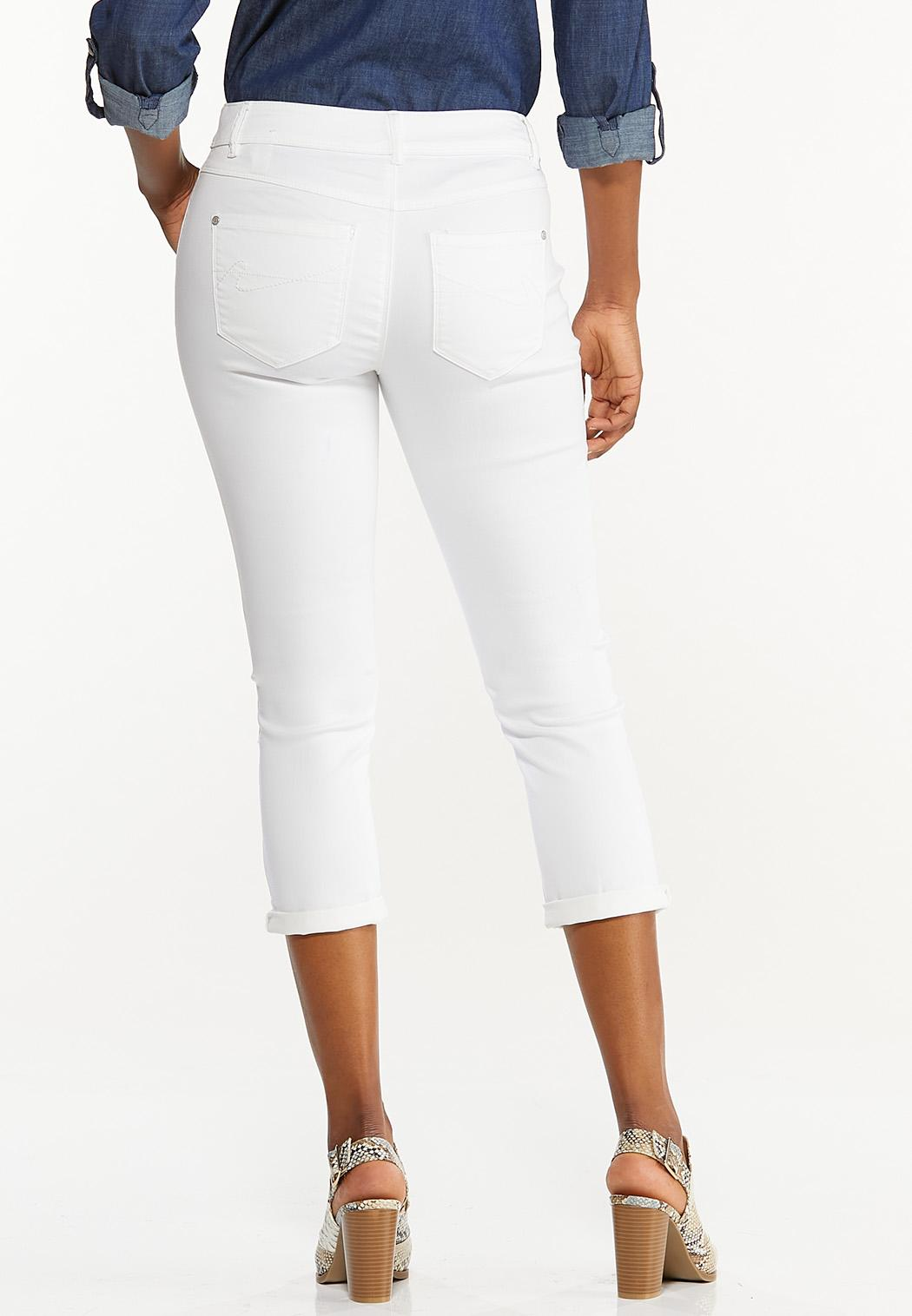 Cropped White Jeans (Item #44476675)